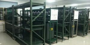 山东军工网客户采购一批军绿色货架
